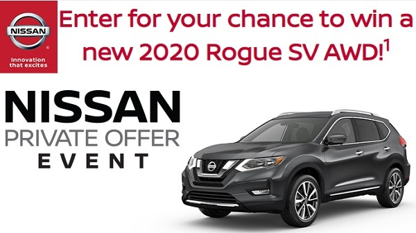 Nissan Rogue Sweepstakes 2019 on NissanSweeps.com
