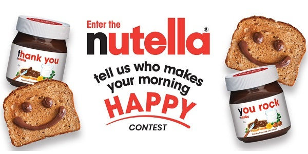 Nutella.com Who Makes Your Morning Happy Contest