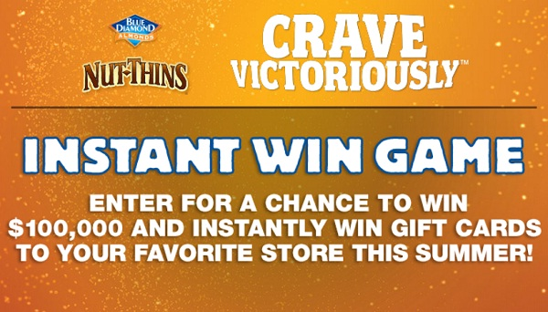 Nut Thins 2 Win Instant Win Game (91 Winners)