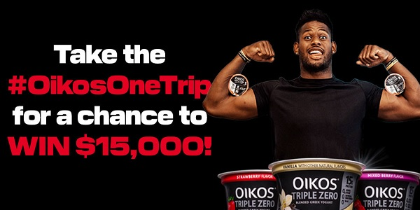 Danone Oikos One Trip Sweepstakes: Win $15000 for Groceries
