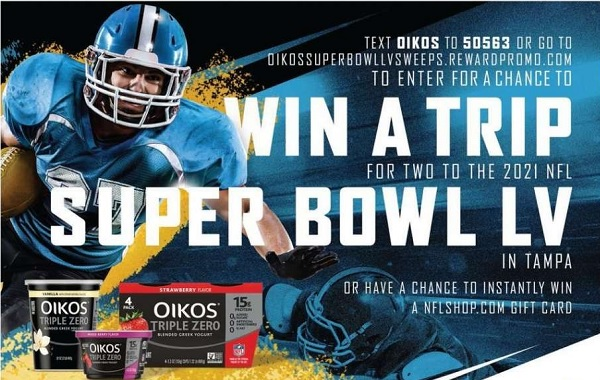 Dannon Oikos Super Bowl LV Sweepstakes