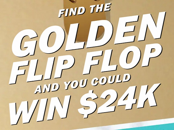 Old Navy Golden Flip Flop Hunt Game: Win $24000 Cash!