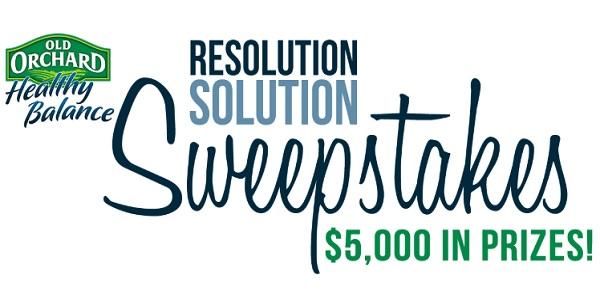 Old Orchard New Year Resolution Solution Sweepstakes