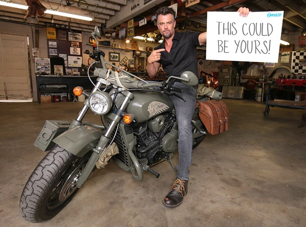 Omaze.com Josh Duhamel Indian Call of Duty Motorcycle Sweepstakes