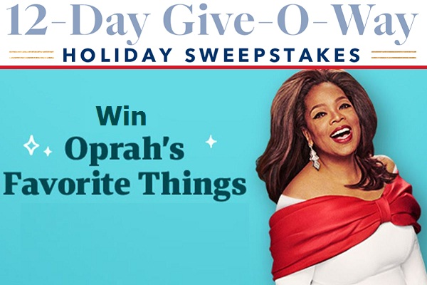 Oprah Christmas Giveaway 2020 Oprah.12 Days Giveaway: Win Her All Favorite Things