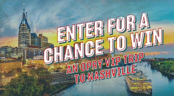 Opry.com VIP Summer Sweepstakes