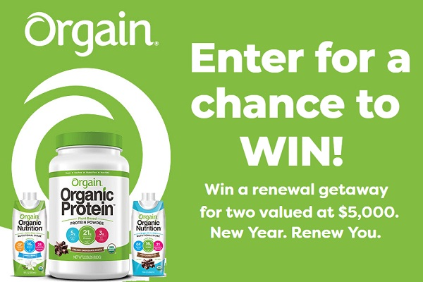 Orgain.com New Year Renew You Sweepstakes