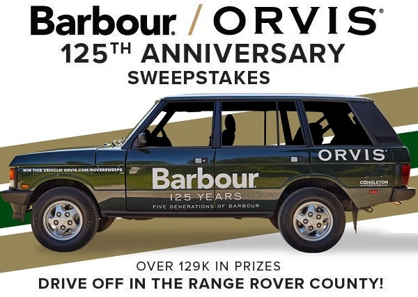 Orvis Barbour Range Rover Sweepstakes