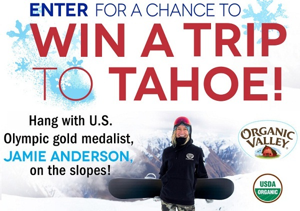 Organic Valley Winter Sweepstakes 2018: Win trip to Tahoe