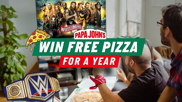 Papa John's WrestleMania Sweepstakes: Win Free Pizza for a Year!