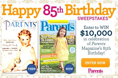 Win $10,000 on Parents' 85th Birthday Sweepstakes