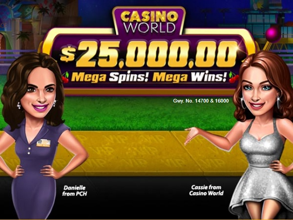 PCH $25000 Casino World Giveaway