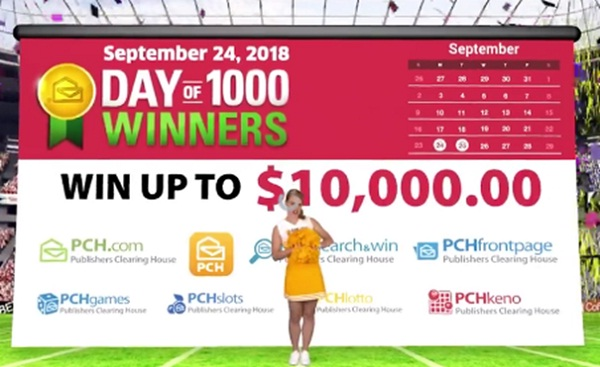 PCH Day of 1000 Winners Sweepstakes Giveaway No  12034