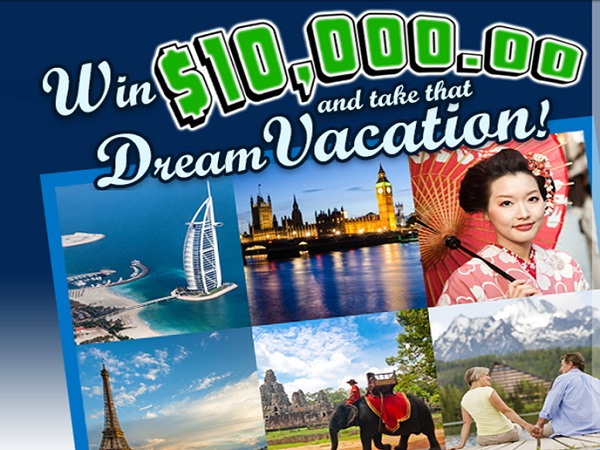 Pch Dream Car >> PCH.com $10,000 Dream Vacation Giveaway No. 10078 ...