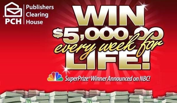 how to win wish daily giveaway pch com 5 000 a week for life sweepstakes giveaway no 1224