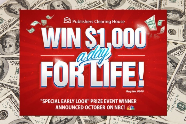 PCH com Win $1,000 a Day for Life Sweepstakes | SweepstakesBible