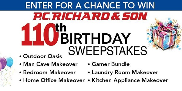 P.C. Richard & Son Birthday Sweepstakes