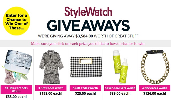 People Magazine StyleWatch Giveaways