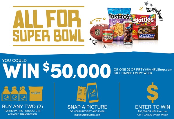 and Mars Super Bowl 50 Sweepstakes: Win $50k Cash | SweepstakesBible