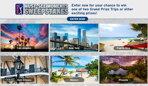 Pgatour.com Must See Moments Sweepstakes 2019