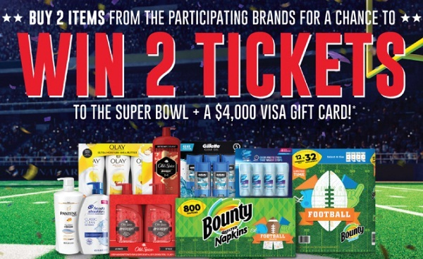 P&G Football Sweepstakes: Win Super Bowl 2020 Tickets