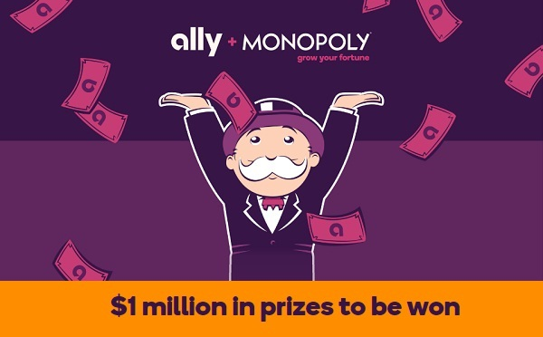 Ally and Monopoly IWG and Sweepstakes on PlayAlly.com