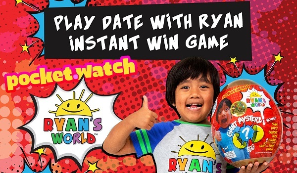 PocketWatch Play Date with Ryan Instant Win Game