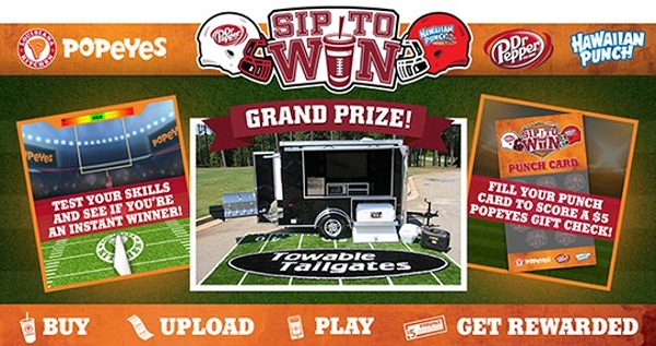 Popeyes Sip to Win Sweepstakes & Instant Win Game 2017