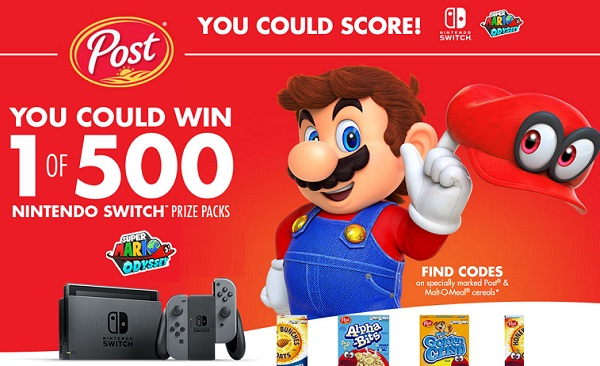 Nintendo video sweepstakes