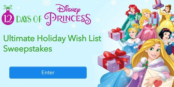 Disney Princess 12 Days of Holiday Sweepstakes