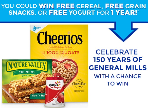General Mills Anniversary Instant Win Game