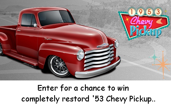 Raybestos com Win '53 Chevy Pickup Sweepstakes