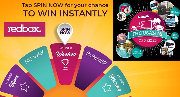 Redbox.com Summer Spin Instant Win Game