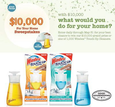 Win $10,000 in Touch Up Your Home Sweepstakes