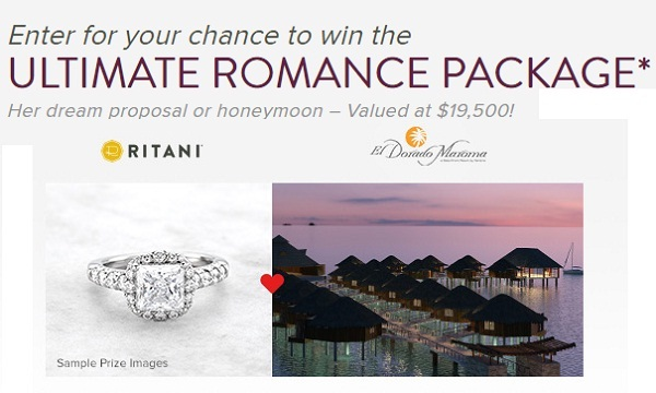 Ritani Sweepstakes: Win Ultimate Romance Package