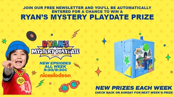 Ryan's Mystery Playdate Sweepstakes on RyansMysterySweepstakes.com