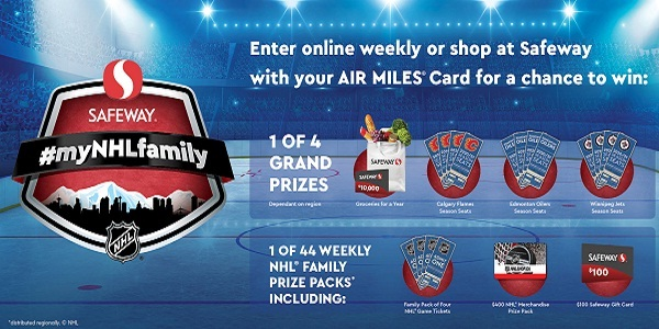 Safeway My NHL Family Contest: Win Over $77,000 in Prizes