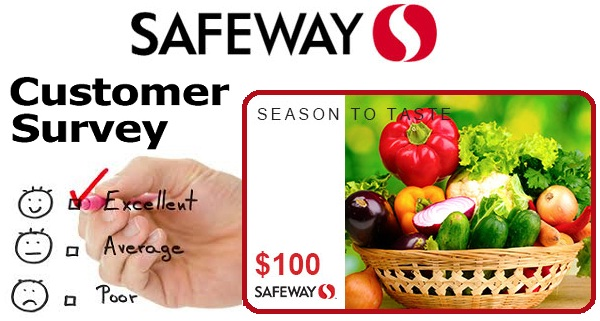Safeway Survey Sweepstakes: Win $100 Safeway Gift Card