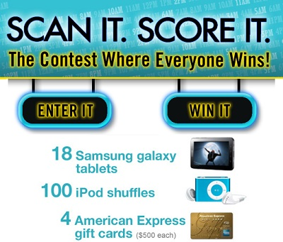 Scan It Score It: The Contest Where everyone Wins!
