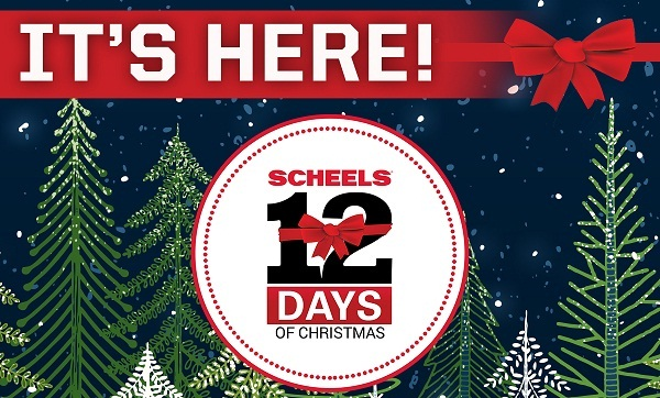 Scheels.com 12 Days of Christmas Sweepstakes 2019