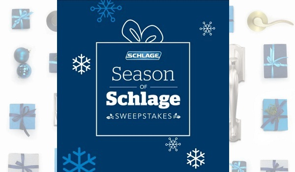 Schlage.com Season of Schlage Sweepstakes