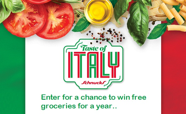 Schnucks.com Taste of Italy Sweepstakes: Win Free Groceries For a Year