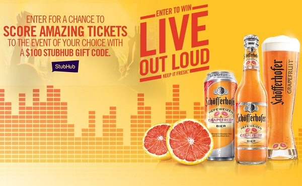 "Schofferhofer Grapefruit ""Live: Out Loud"" Sweepstakes"