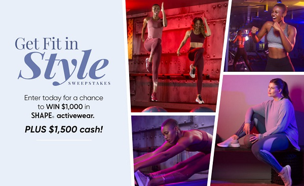 Shape.com Get Fit in Style Sweepstakes