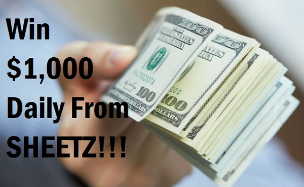 Sheetz Daily Grand Sweepstakes: Win $1000 Cash Daily!