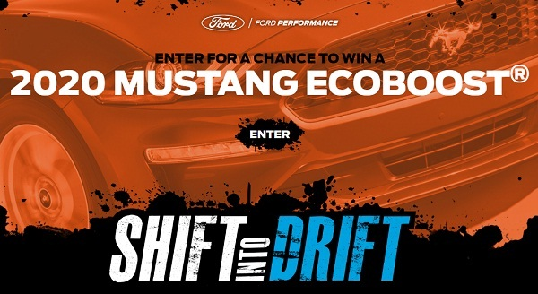 Ford Shift into Drift Sweepstakes: Win 2020 Ford Mustang