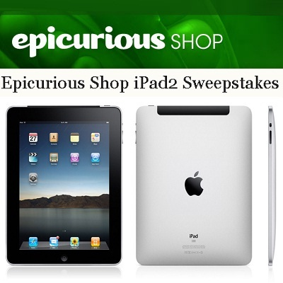 Win 32GB iPad 2 with Epicurious Shop