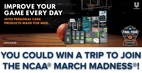 Unilever March Madness Sweepstakes on ShopGroomWinBig.com
