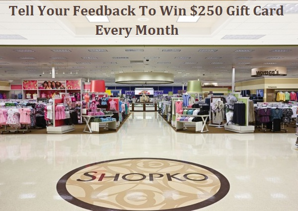 Take Shopko Customer Survey to win $250 Gift Card Monthly