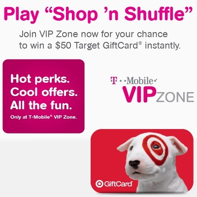 Play Shop 'n Shuffle to win $50  Target GiftCard